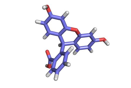Image of pyoverdin, also known as fluorescein.